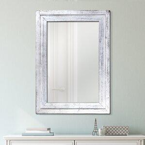 Wood Framed Wall Mirrors wood frame antique mirror | wayfair