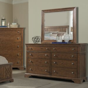 Rock Eagle 8 Drawer Dresser with Mirror by Trisha Yearwood Home Collection