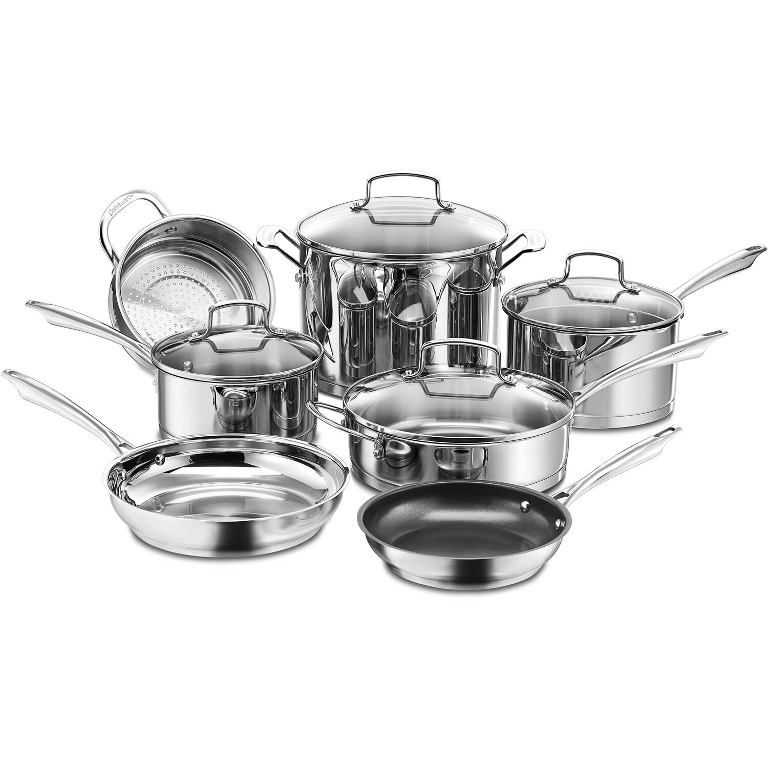 Professional Series 11 Piece Stainless Steel Cookware Set