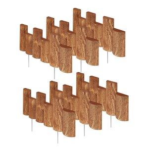 7 in. x 18 in. 6 Pack Half Log Edging (Se..