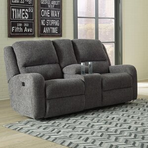 Armatou Reclining Loveseat by 17 Stories