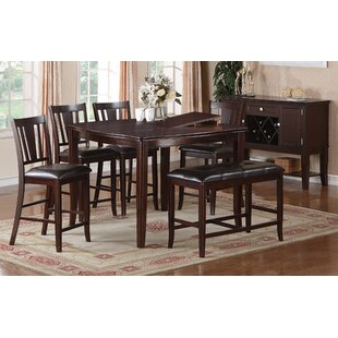Melisa 6 Piece Counter Height Dining Set