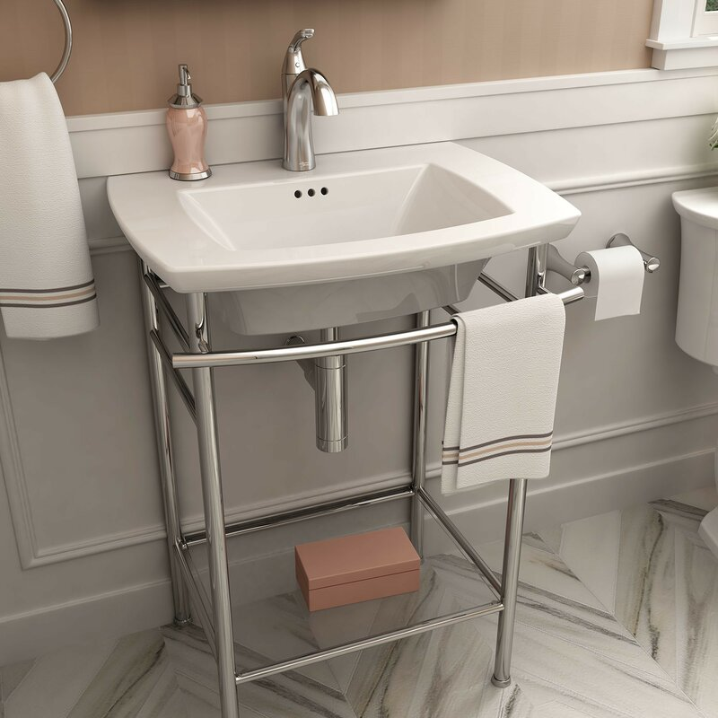 American Standard Edgemere 25 Console Bathroom Sink With
