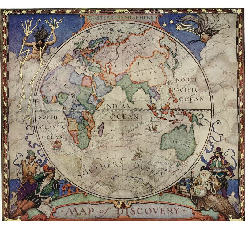 National Geographic Maps Map of Discovery of the Eastern Hemisphere ...