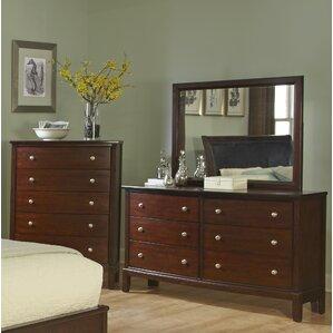 Denver 6 Drawer Dresser with Mirror by..