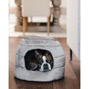 2-in-1 Honeycomb Hut-Cuddler Bella Dog Bed/ Cat Bed