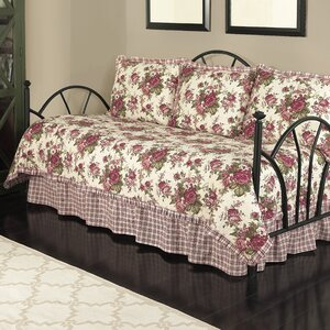 Norfolk 5 Piece Reversible Daybed Quilt Set