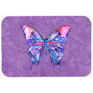 Butterfly on P Kitchen/Bath Mat