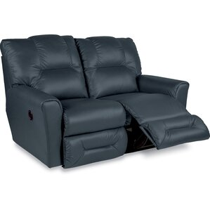 Easton Leather Reclining Loveseat by La-Z-Boy