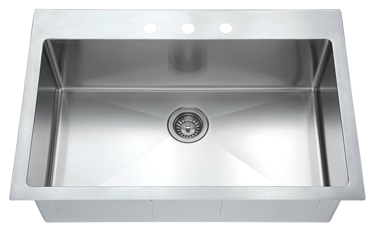 top mount 33   x 22   single drop in kitchen sink dawn usa top mount 33   x 22   single drop in kitchen sink  u0026 reviews      rh   wayfair com