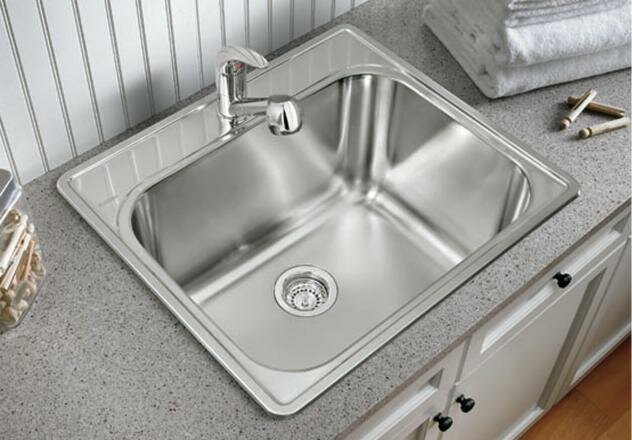 441078 Essential 25 X 22 Drop In Laundry Sink