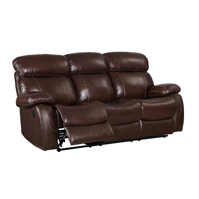 Red Barrel Studio Novoa Leather Reclining Sofa | Wayfair