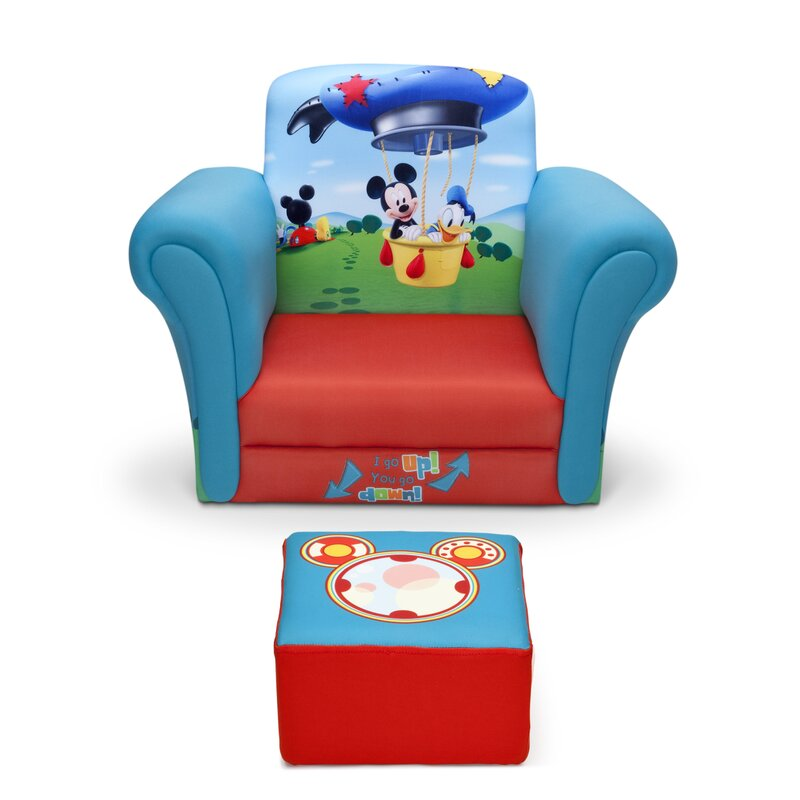 Exceptionnel Mickey Mouse Upholstered Kids Club Chair And Ottoman