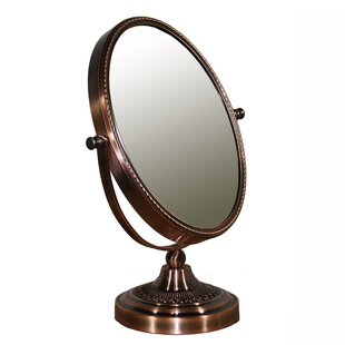 Oval Brown Magnify Mirror