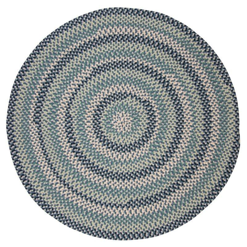 f6c9520ee738 Alcott Hill Lettie Capeside Wool Navy Light Blue Green Gray Cream ...
