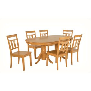 Alvy 7 Piece Solid Wood Dining Set
