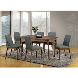 Hecker 7 Piece Solid Wood Dining Set