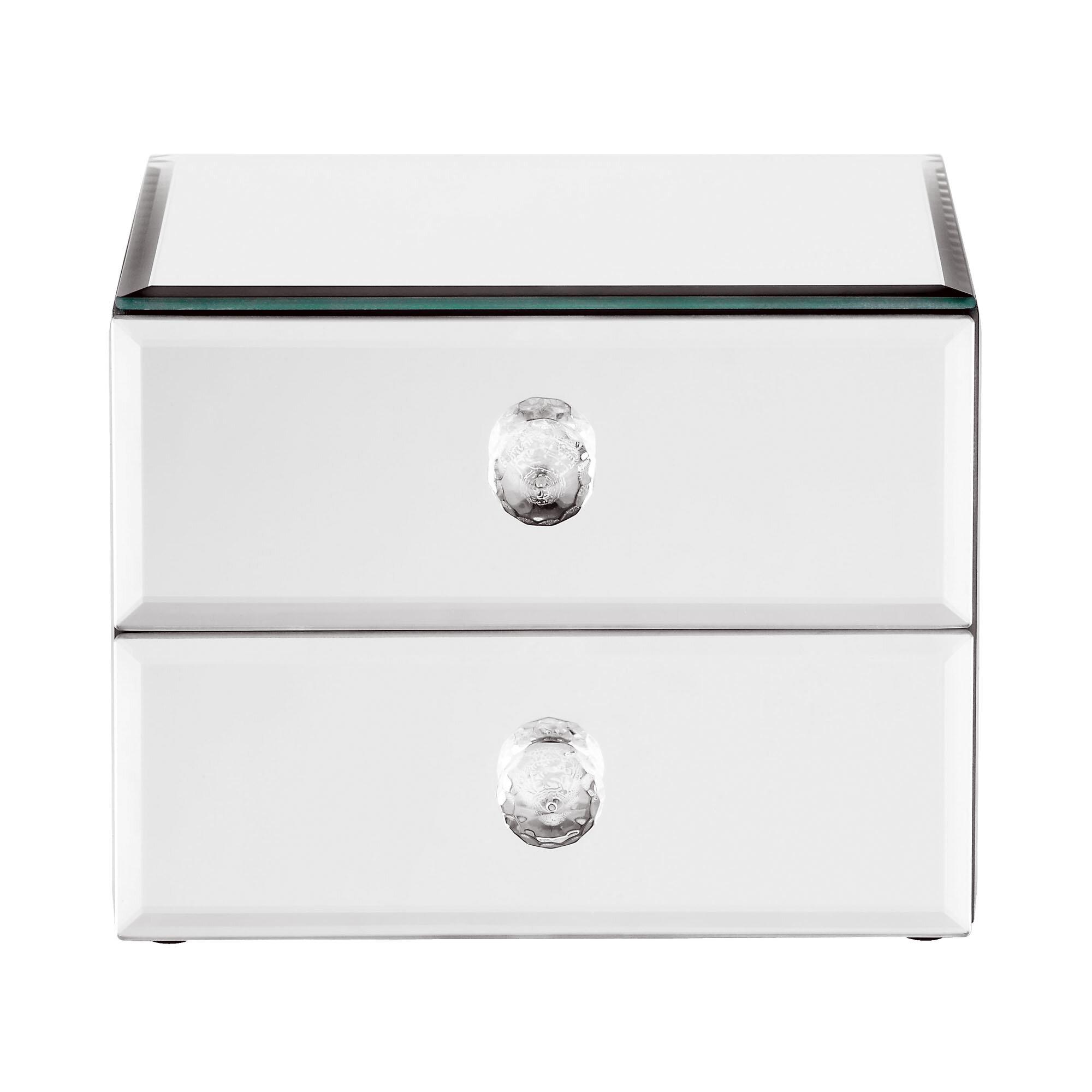 Unique Beautify Mirrored Glass Jewelry Box & Reviews   Wayfair XD79