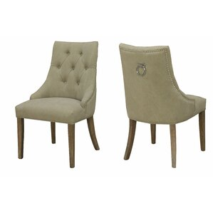 Alberta Nailhead Parsons Chair (Set of 2) by Darby Home Co