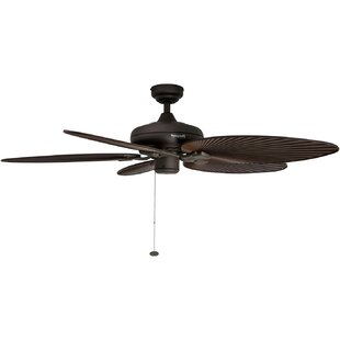 Palm leaf ceiling fan wayfair 52 island palm 5 blade ceiling fan aloadofball Images