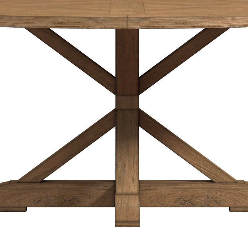 peralta round rustic dining table - Rustic Dining Table
