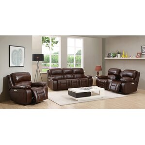 Westminster II Leather 3 Piece Living Room Set by HYDELINE BY AMAX