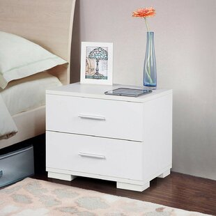 2 Drawer Bedside Table By Songmics