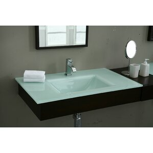 Glass Bathroom Vanity Tops glass vanity tops you'll love | wayfair