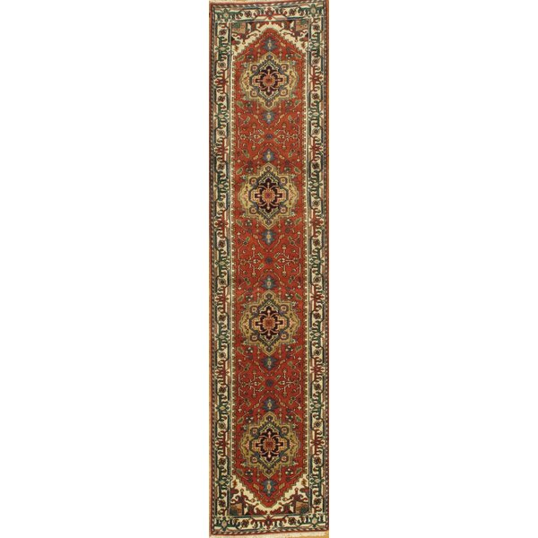 Pasargad Ny Indo Serapi Hand Knotted Wool Red Gold Area Rug Perigold
