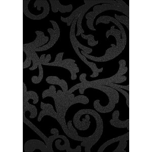 Brushwood Elegance Black Area Rug