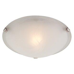 Hampton bay ceiling light wayfair boundary bay 1 light flush mount aloadofball Image collections