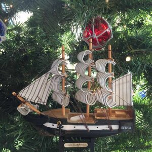 HMS Surprise Master and Commander Ship Christmas Ornament