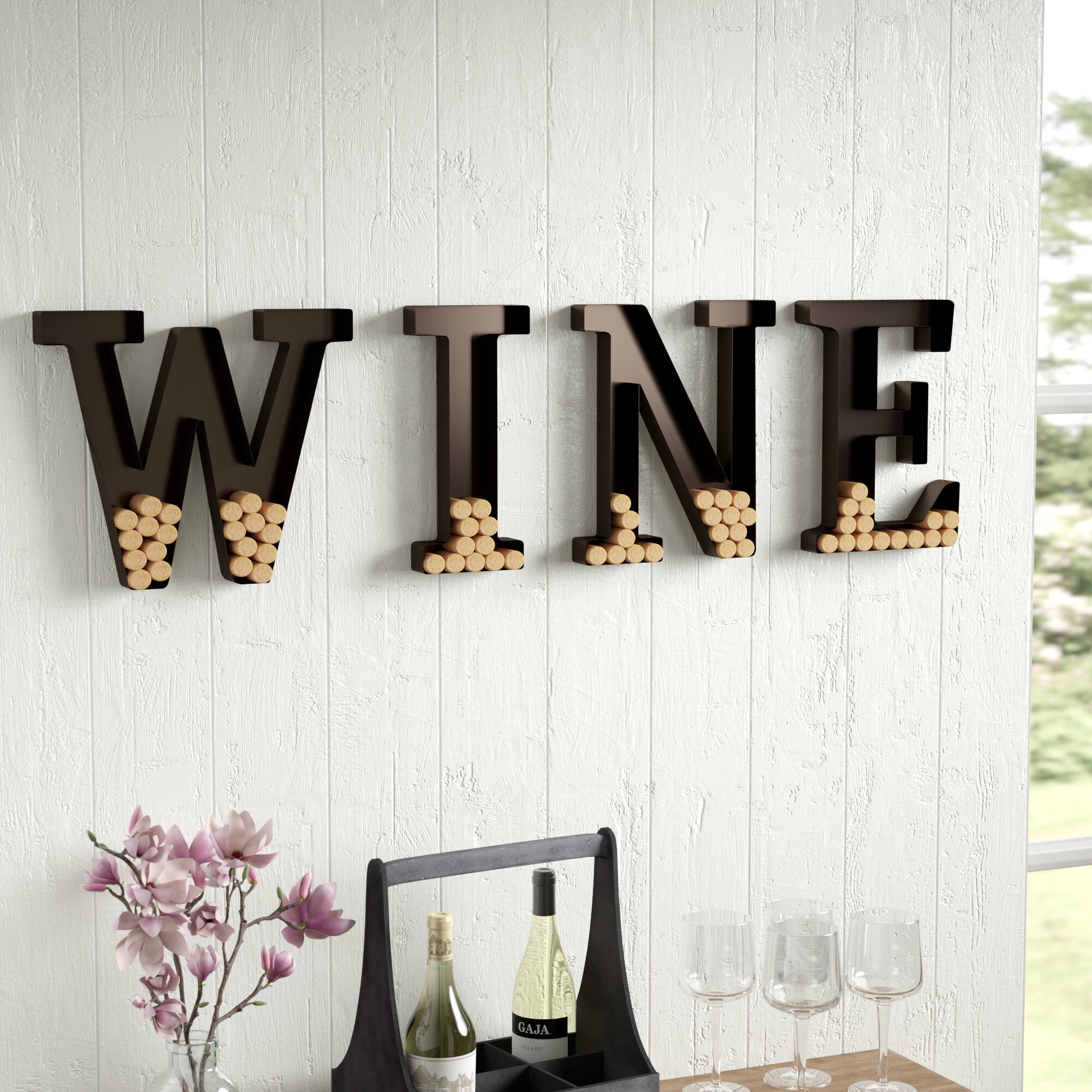 Laurel Foundry Modern Farmhouse Wall Mount Wine