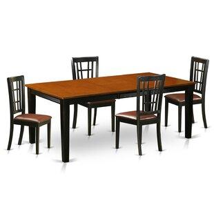 Pilger 5 Piece Extendable Dining Set