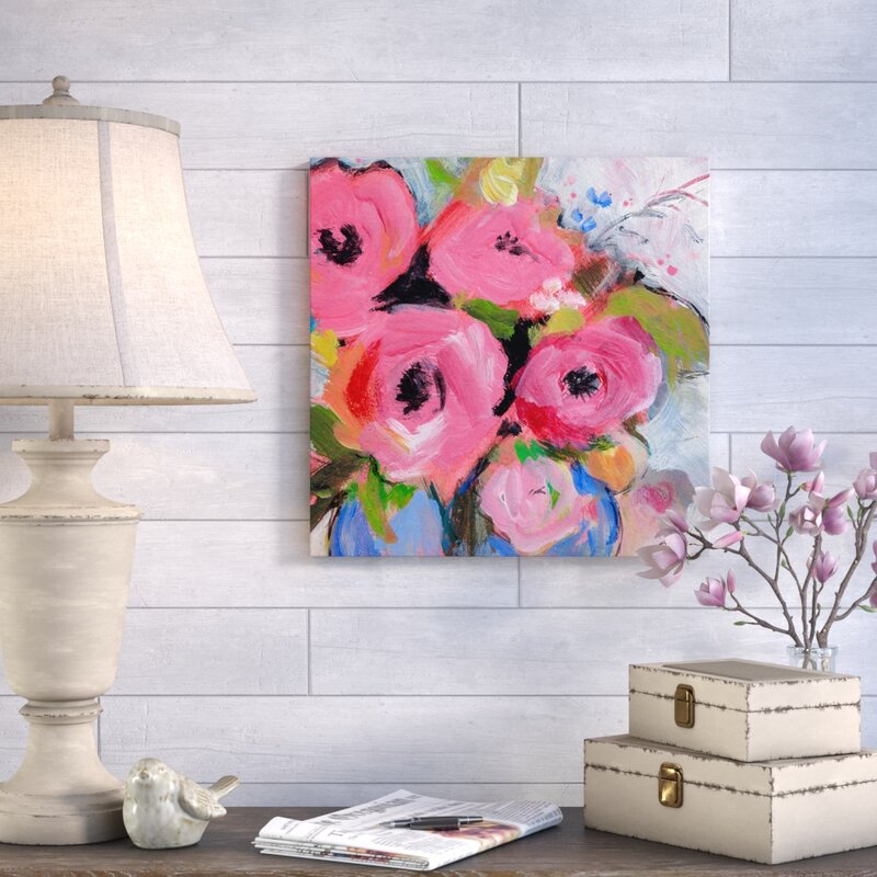 Bouquet in Pink by Sheila Golden Painting Print on Canvas & Reviews ...