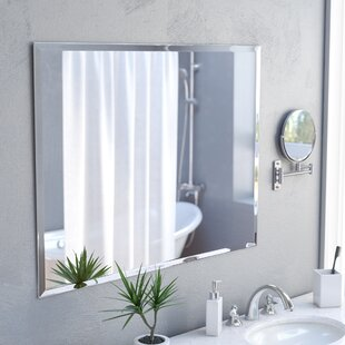 Marylee Rectangle Beveled Polish Frameless Wall Mirror With Hooks. By  Zipcode Design
