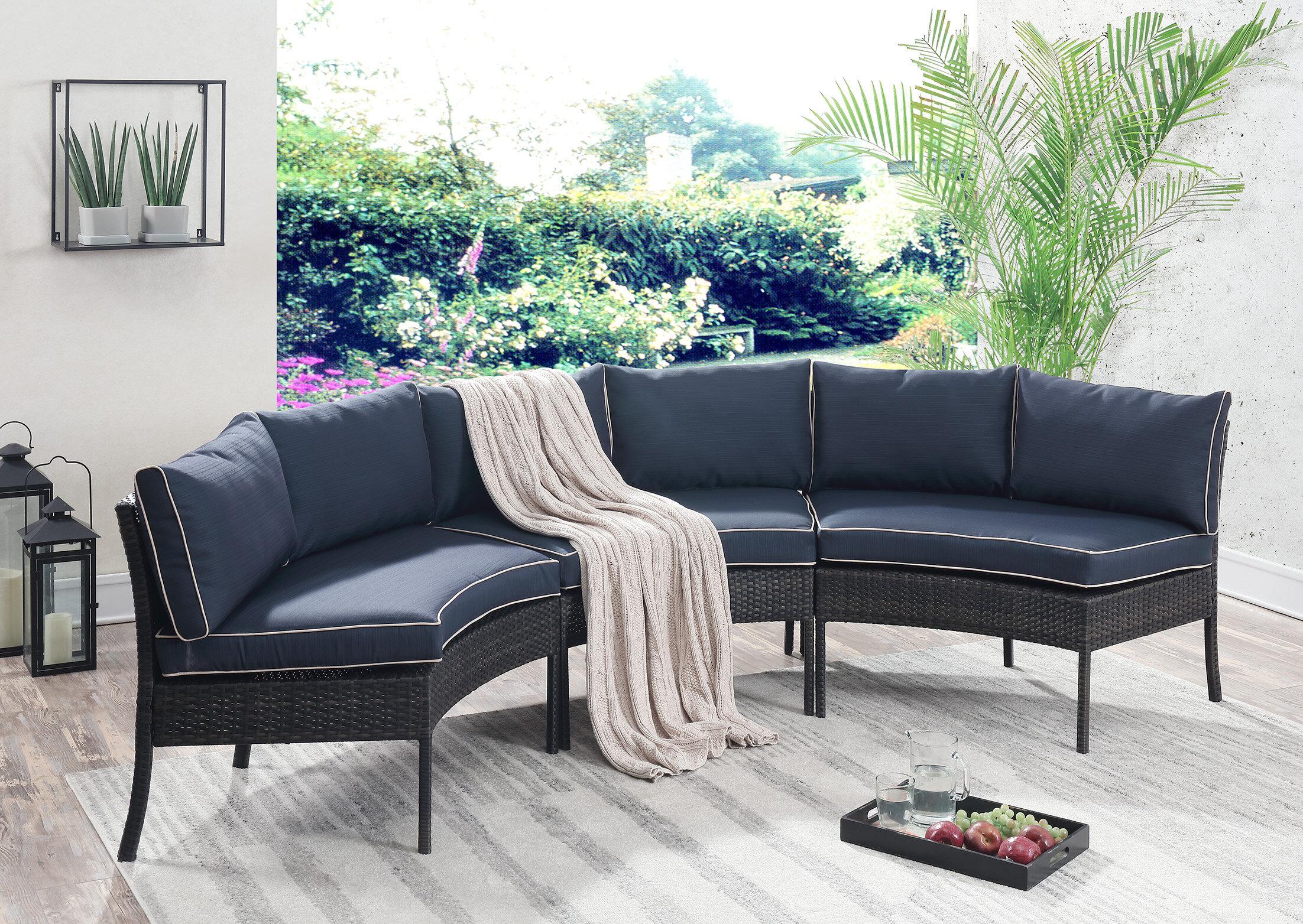 Beau Breakwater Bay Petunia Circular Patio Sectional With Cushions U0026 Reviews |  Wayfair