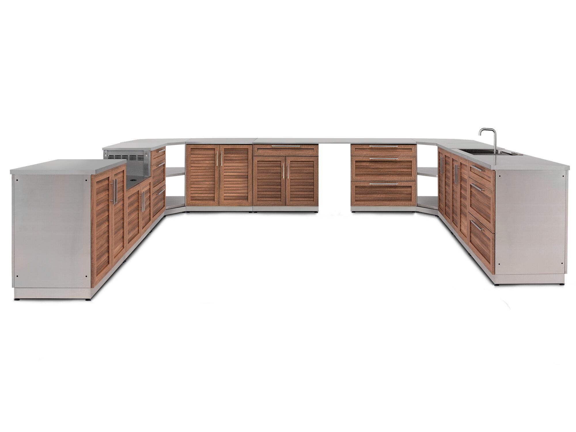 Newage products 17 piece outdoor bar center set wayfair
