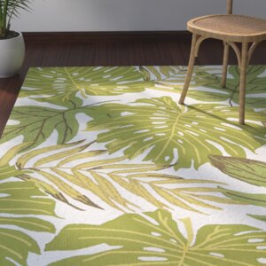 Brianna Handmade Green/White Indoor/Outdoor Area Rug