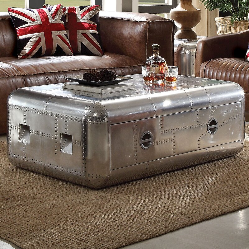 17 Stories Annessia Coffee Table With Trunk Wayfair