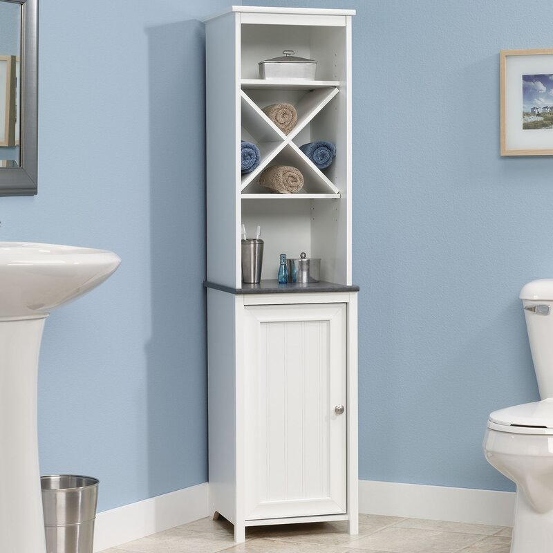 Beachcrest home gulf free standing linen tower - Free standing linen cabinets for bathroom ...