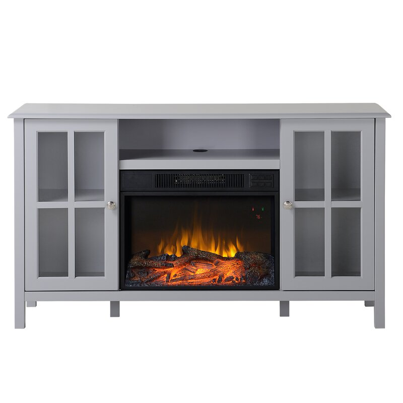 homestar langley 55 5 tv stand with fireplace reviews wayfair. Black Bedroom Furniture Sets. Home Design Ideas