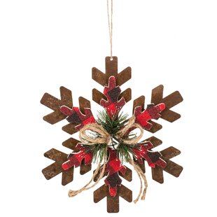 plaid snowflake christmas ornament - Plaid Christmas Ornaments
