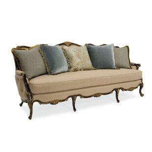 Wyndemere French Dark Wood Sofa
