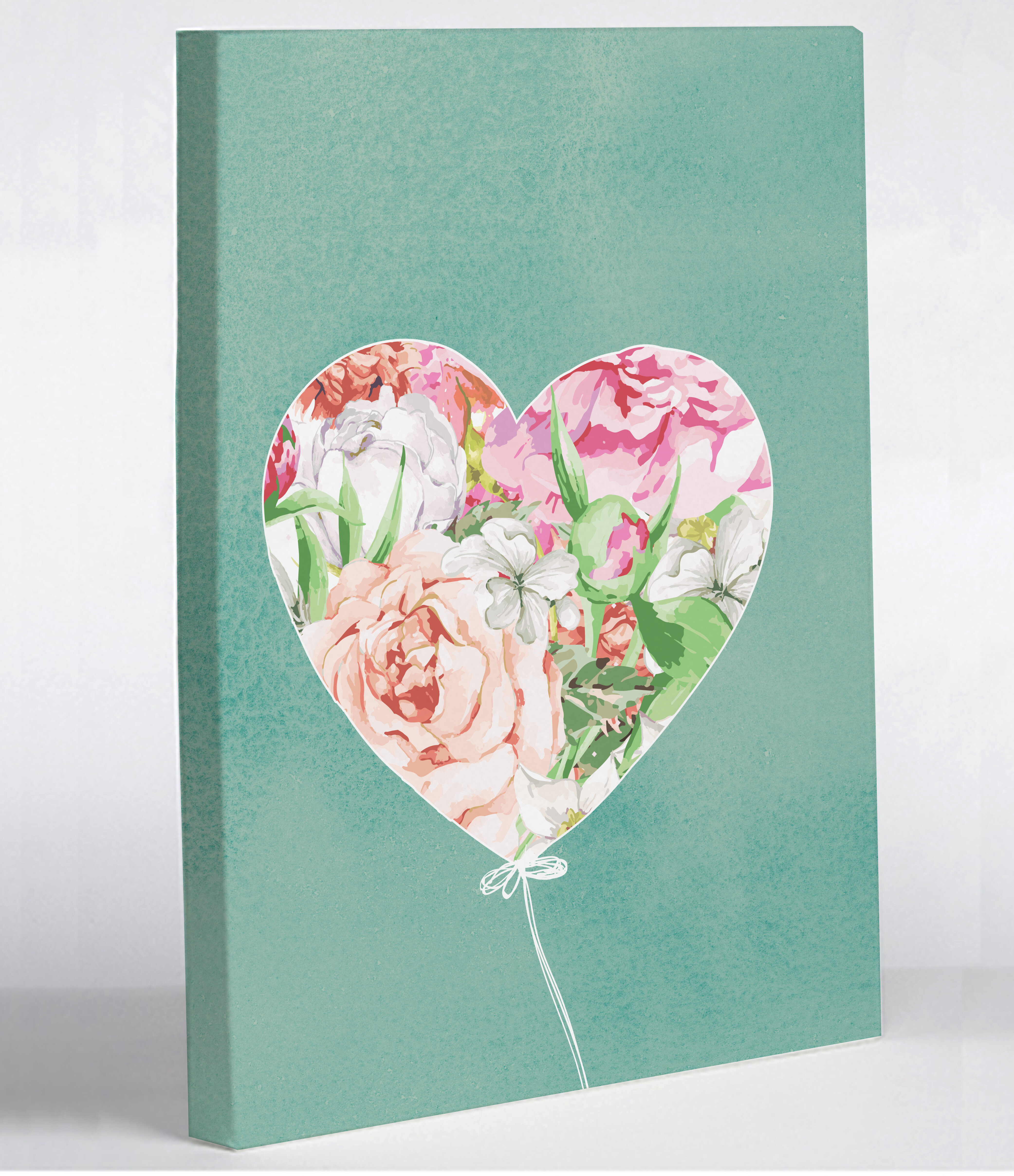 One bella casa floral balloon heart graphic art on canvas for Bella flora chaise lounge
