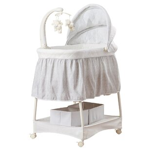 Pink And Grey/ Slightly Used Simmons Kids Slumbertime Elite Gliding Bassinet Nursery Furniture