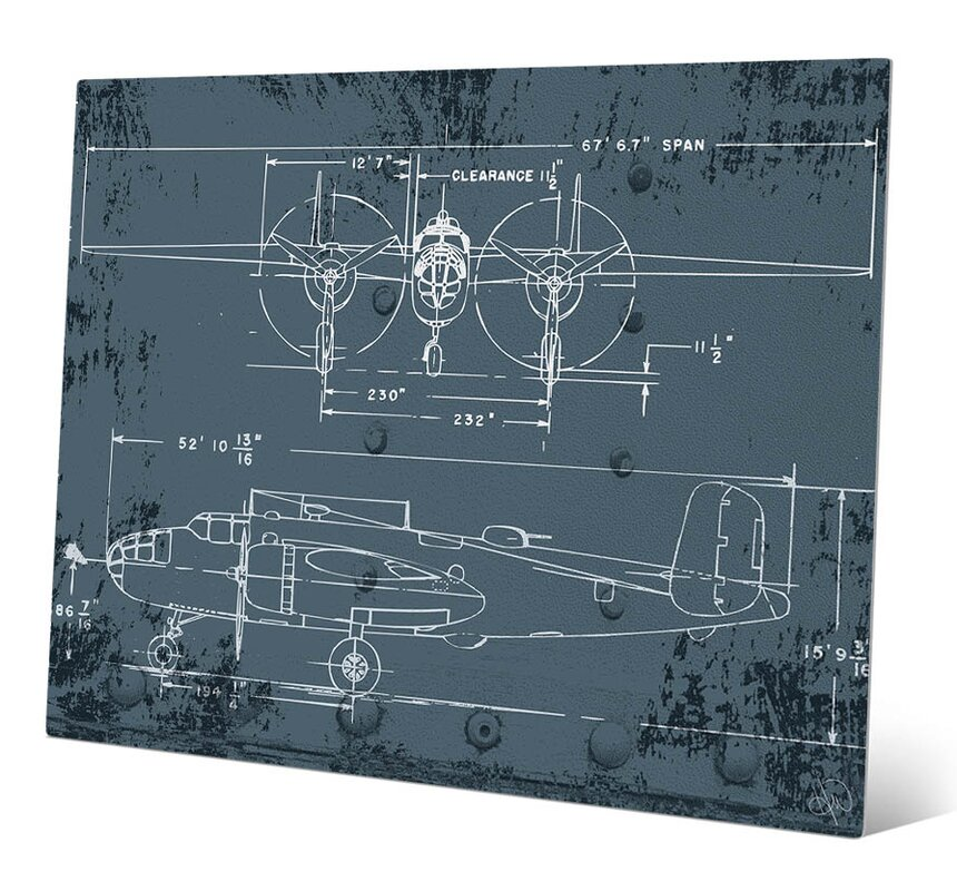 Click wall art airplane blueprint graphic art reviews wayfair airplane blueprint graphic art malvernweather Gallery