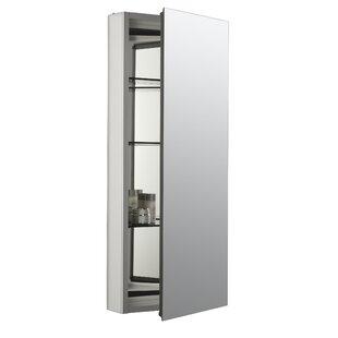 Catalan 15  x 36  Aluminum Single-Door Medicine Cabinet with 107 Degree Hinge  sc 1 st  AllModern & Modern Silver Medicine Cabinets | AllModern