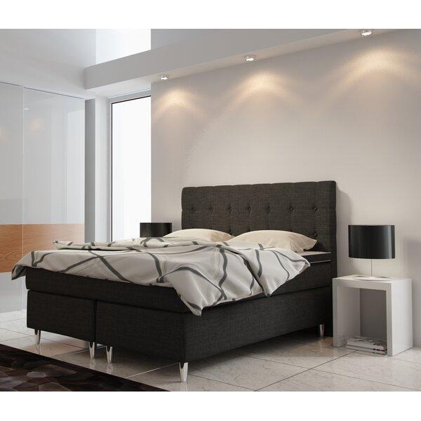 polster boxspringbett kaja mit topper 160 x 200 cm. Black Bedroom Furniture Sets. Home Design Ideas