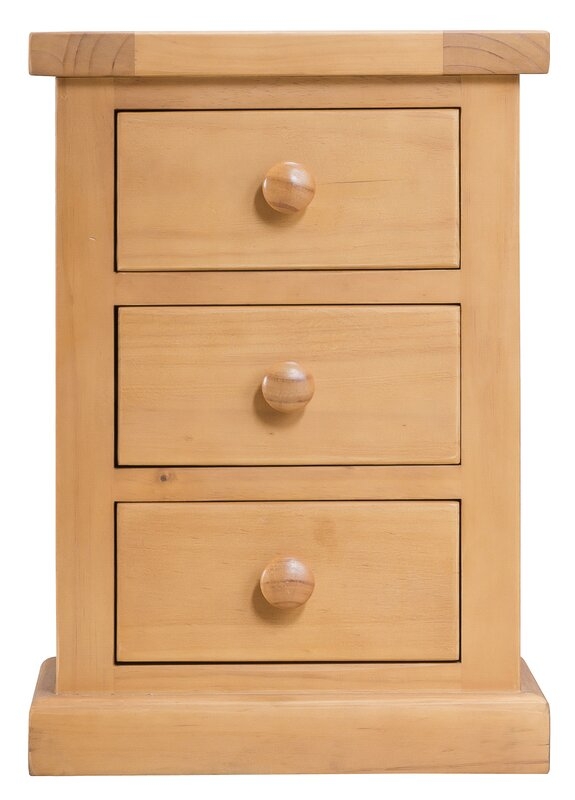 AlpenHome Cotswold 3 Drawer Bedside Table & Reviews | Wayfair.co.uk